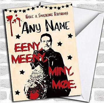 Smashing Negan The Walking Dead Customised Birthday Card Amazon