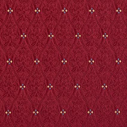 Amazon Com Rouge Burgundy Red Rust Small Scale Damask Jacquard