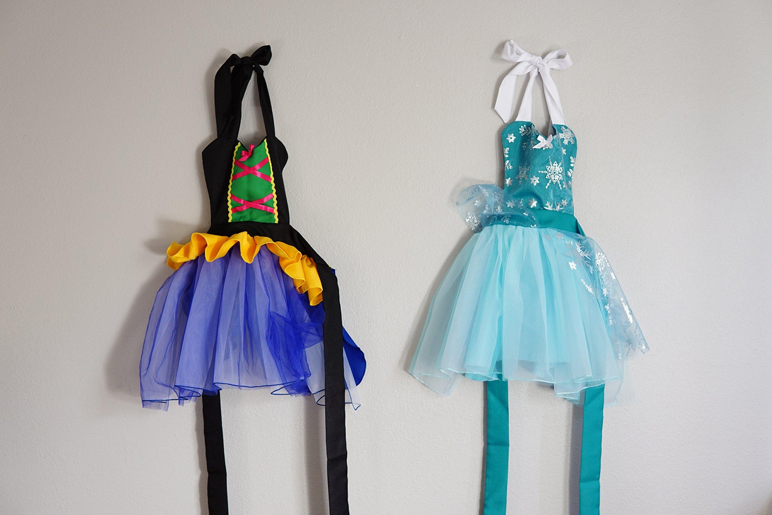 SET OF 2 PRINCESS RUFFLE APRONS FOR KIDS 3-5 years old