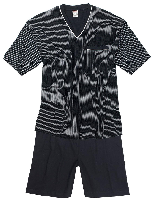 Short Sleeved Pyjamas in Burgundy by Adamo - 9XL ÜBERGRÖSSEN 1929