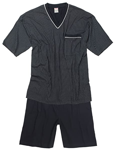 ADAMO - Pijama - Rayas - Manga corta - para hombre azul 2 mes