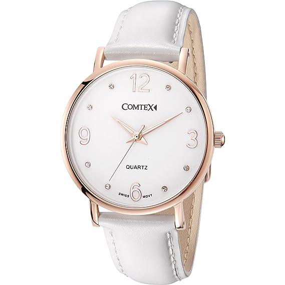 migliore a buon mercato 3c996 949d7 Comtex oro rosa donna orologi svizzeri di quarzo analogico ...