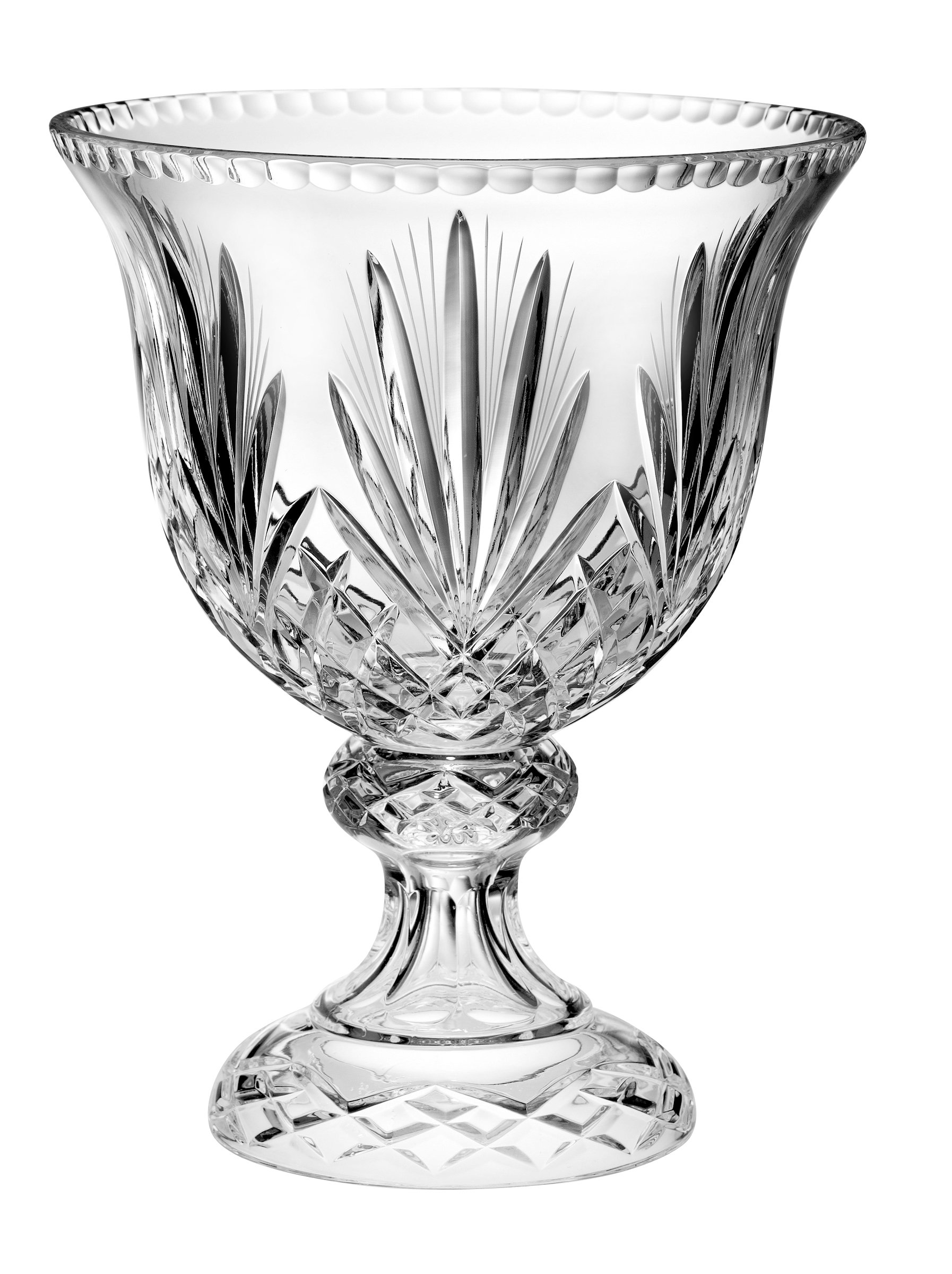 Barski - Hand Cut - Mouth Blown - Crystal - Footed Centerpiece - Bowl - 12''D - Made in Europe