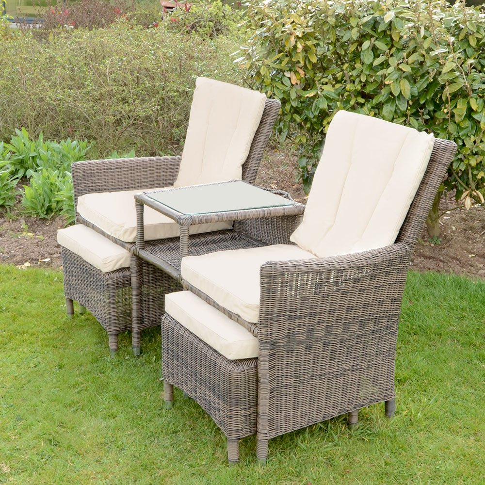 Bordeaux 3 Pc Companion Love Seat Wicker Rattan Garden Patio Furniture  Chairs  Amazon co uk  Garden   Outdoors. Bordeaux 3 Pc Companion Love Seat Wicker Rattan Garden Patio