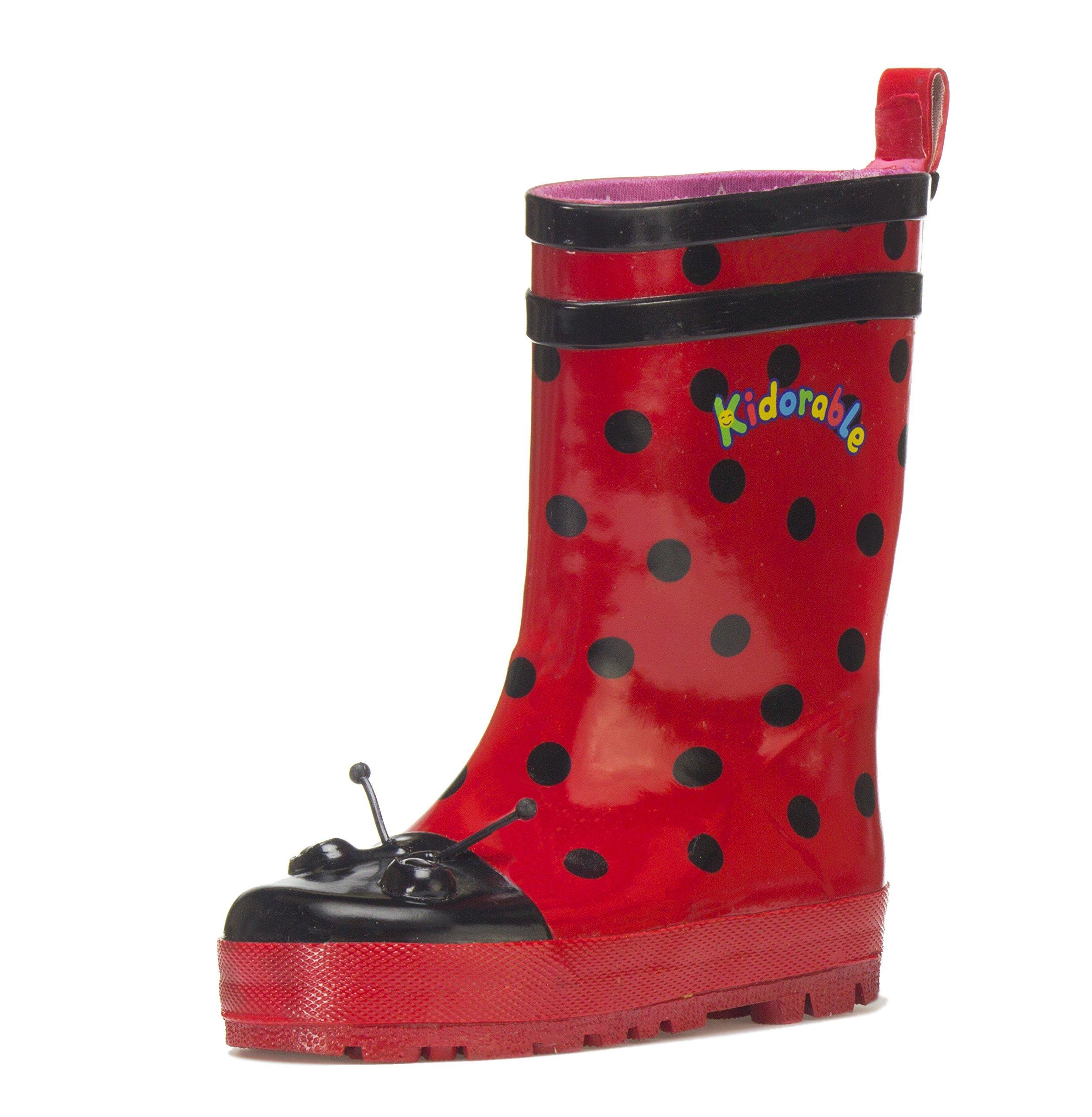 Kidorable Ladybug Rainboots, 8 Toddler