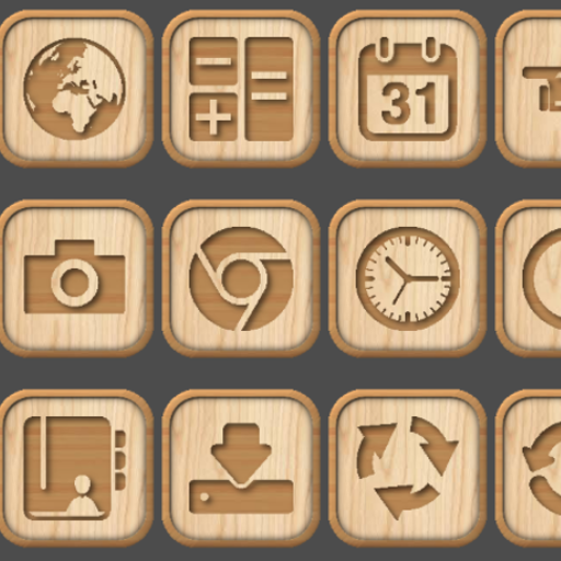 Wooden Icon Pack: Amazon ca: Appstore for Android
