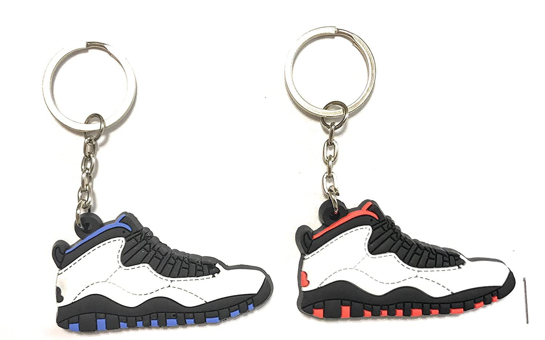 Zapatos Sneaker llavero aj-10 Retro 3 y 2 unidades, Azul ...
