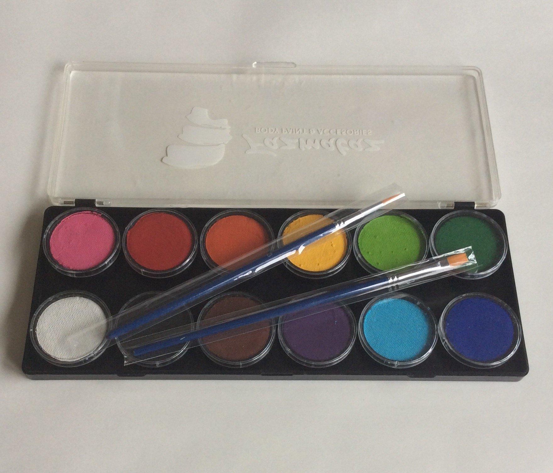 Fazmataz Essential 12 Color Palette - Professional Face Paint