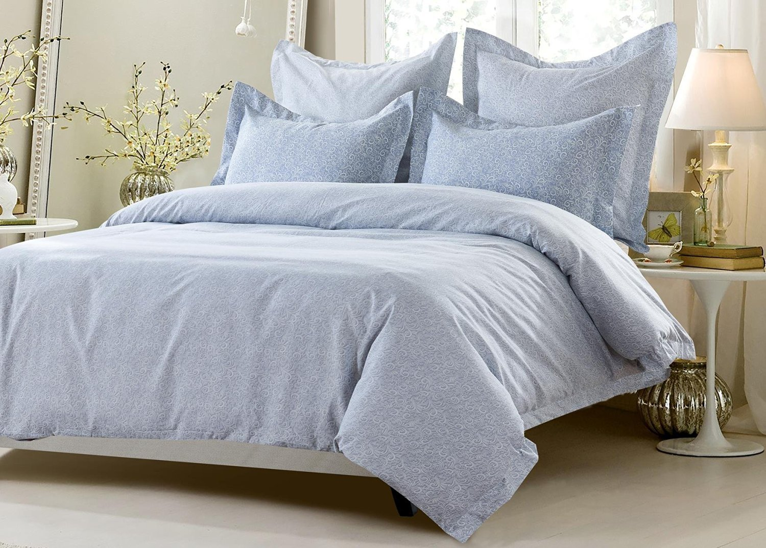 5pc Elegant Design Duvet Cover Set Style