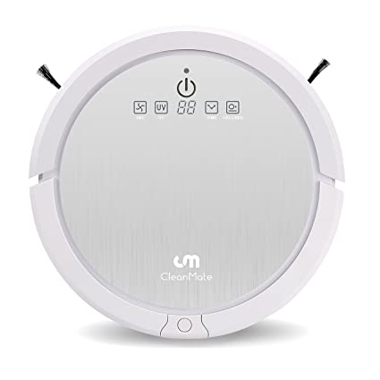 Cleanmate QQ6 Robotic Vacuum Cleaner with Remote Control, Smart Scheduler, Drop and Obstacle Sensor, Multi-Pattern Cleaning, and Self-Charging for ...