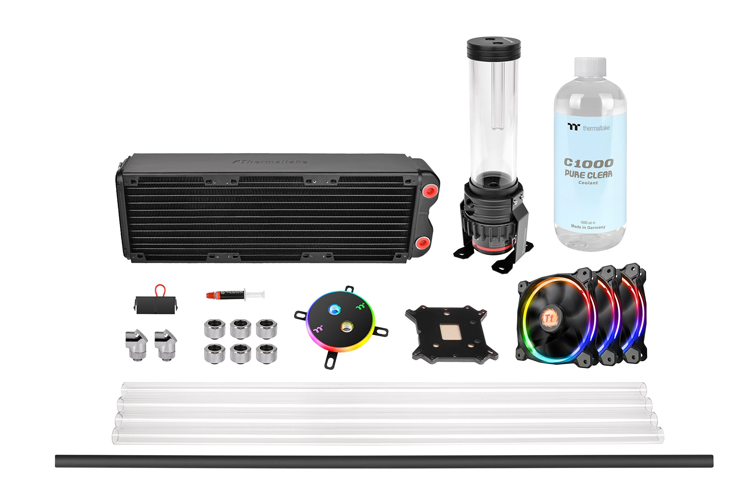 Thermaltake Pacific M360 D5 Res/Pump PETG Hard Tube Water Cooling Kit CL-W217-CU00SW-A by Thermaltake