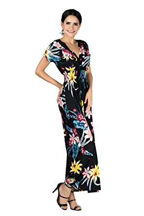 b05d6467f85c9 Mia Suri Long Casual Ladies Maxi Summer Holiday Short Sleeved Plus Size  Kimono Beach Sun Dress