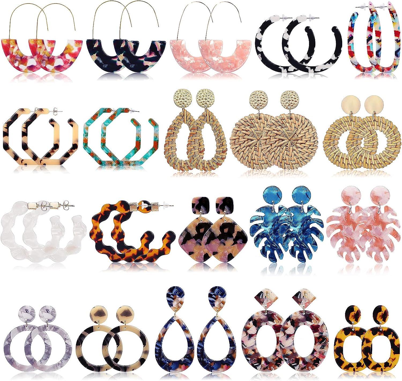 Hand-painted Jewelry Boho Flower Earrings Gift for woman Friendship Earrings Floral Earrings Red Nature Earrings Summer earrings