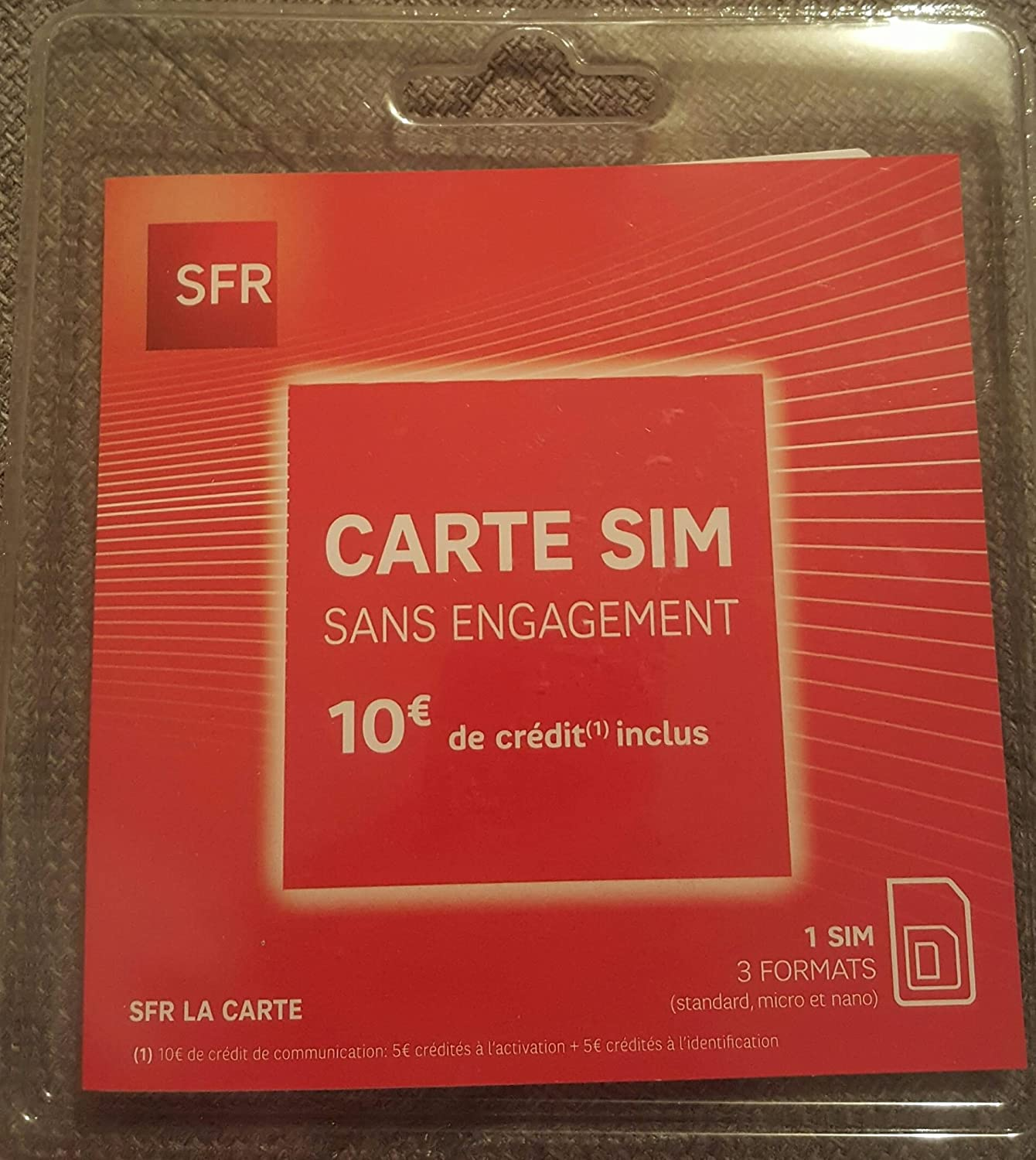 sfr red carte sim gratuite Prepaid SIM card pa83 ® SFR Free 5 & # x20AC; available: Amazon.co