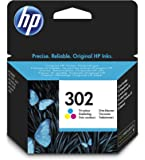 HP 302 Tricromia (F6U65AE) Cartuccia Originale per Stampanti HP a Getto di Inchiostro, Compatibile con HP DeskJet 1110; 2130 e 3630; HP OfficeJet 3830 e 4650; HP Envy 4521