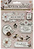 Beautiful Decorative & Artistic 3D-Stickers for Scrapbooking, Diary, DIY, Art n Craft and More - Theme: Best of Times