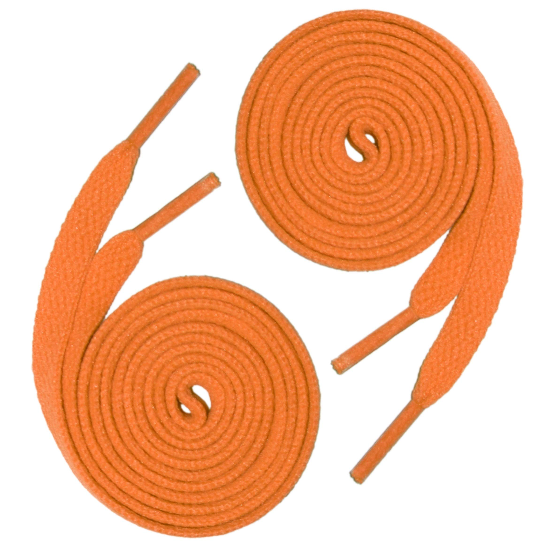 144 (12 Dozen) of 45'' (114 cm) Orange Shoelaces (Flat)