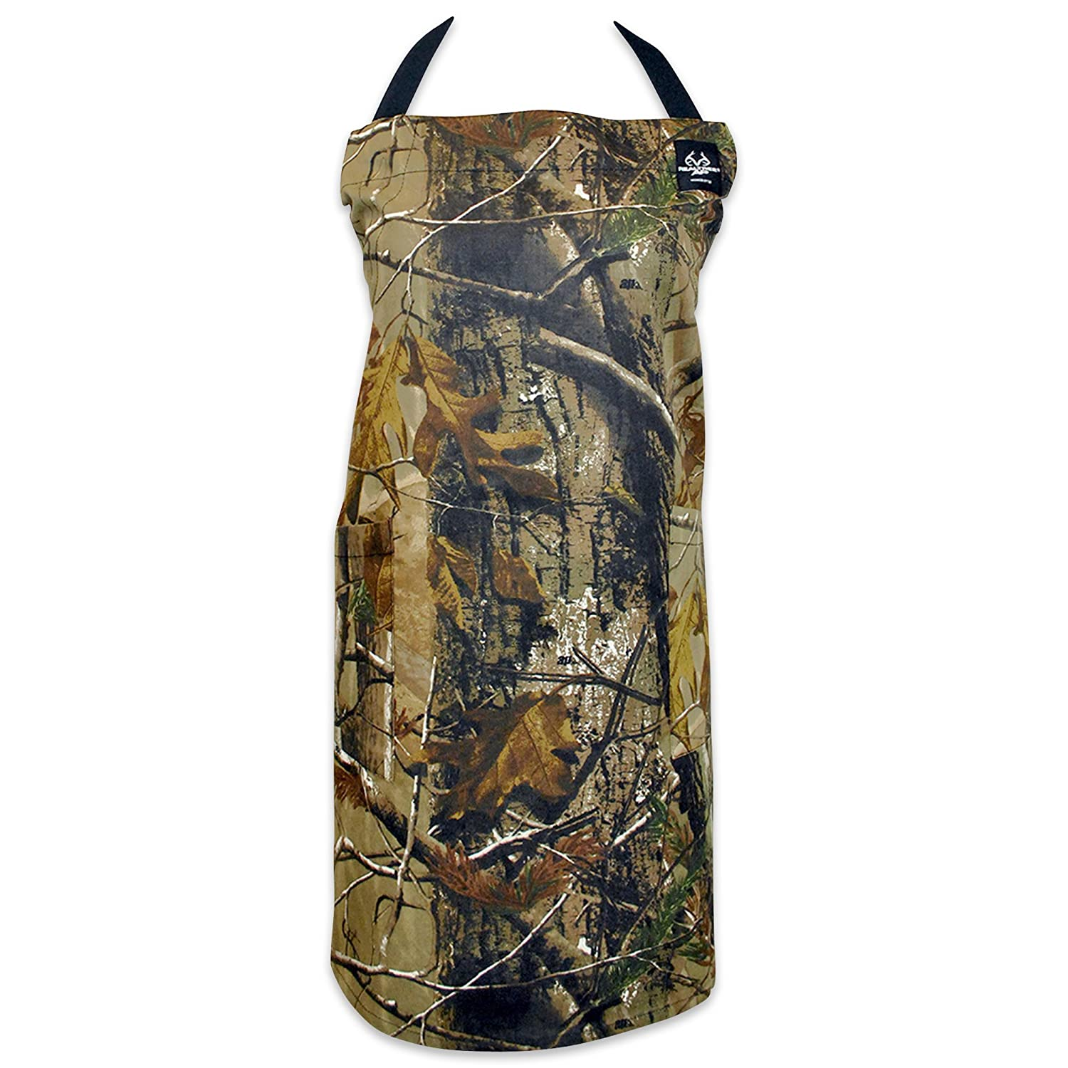 DII 100% Cotton, Machine Washable, RealTree Fashion Chef Apron Perfect For A Camo Kitchen, BBQ, Camping, Flounce Ruffle Apron For Hosting Or Gift - Pink CRT32719