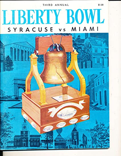 1961 Liberty Bowl Program nm Syracuse vs Miami; Ernie Davis at ...
