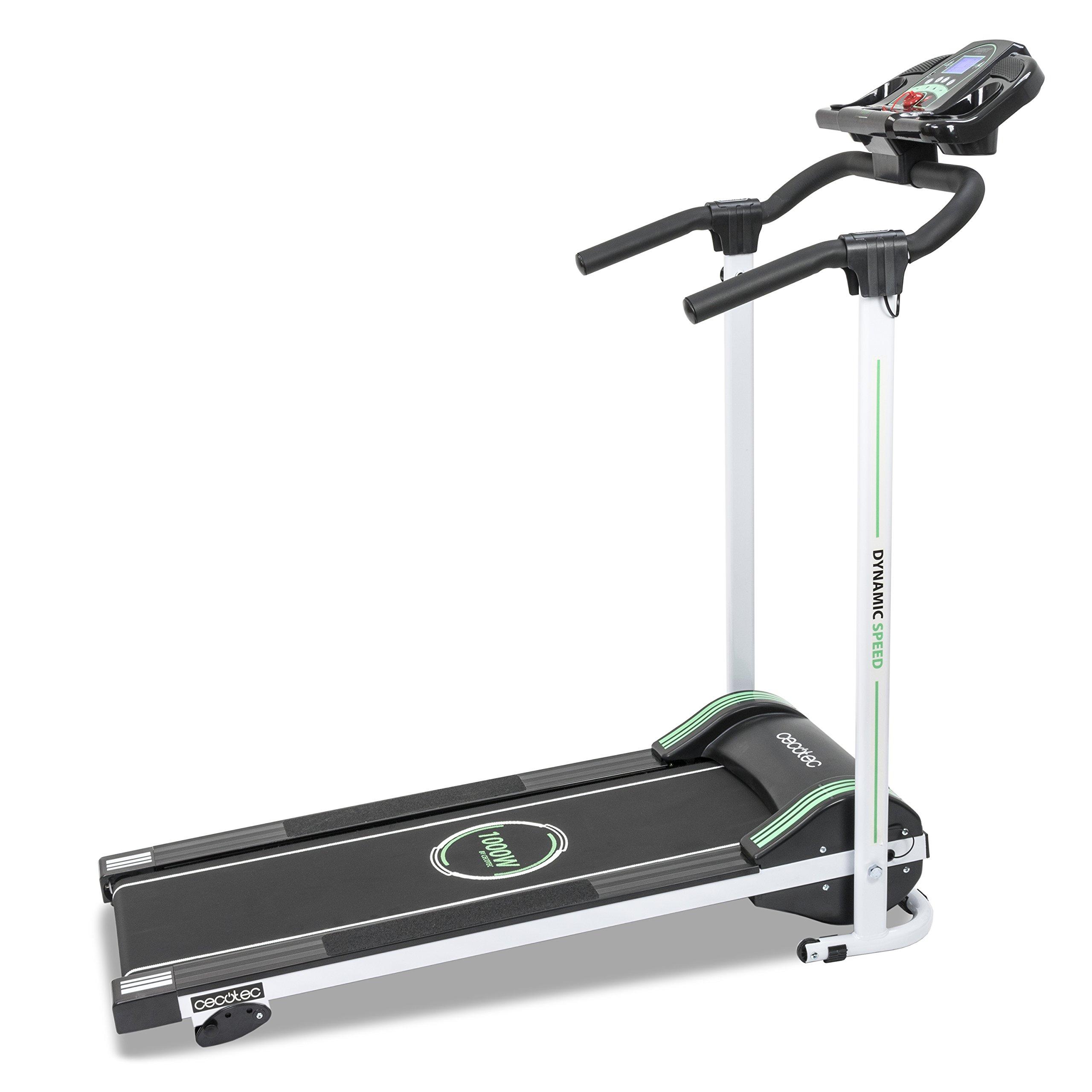 Cecotec - Cinta de andar RunFit Step con 12 programas predefinidos, 1000 W de Potencia