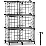 Wire Cube Storage, Storage Shelves 6 Cube Bookshelf Bookcase Closet Organizer and Storage, Wire Storage Shelves Multi-Use DIY