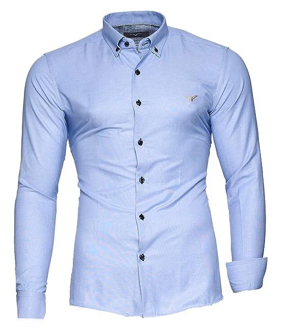 Kayhan Hombre Camisa, Oxford Black S: Amazon.es: Ropa y accesorios