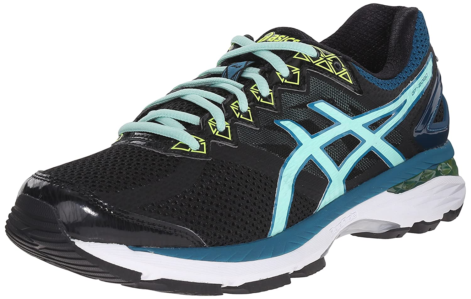 Black Pool bluee Flash Yellow ASICS Women's GT-2000 4 Running shoes