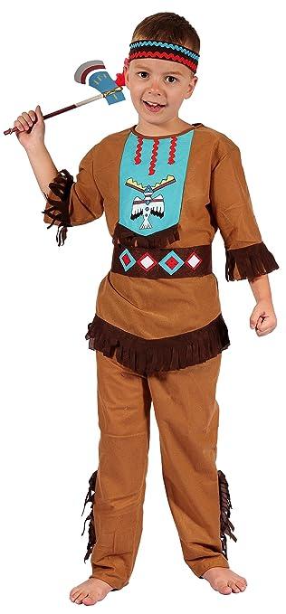 Magicoo Indianer Kostum Kinder Jungen Mit Kopfschmuck Grossen 110 Bis