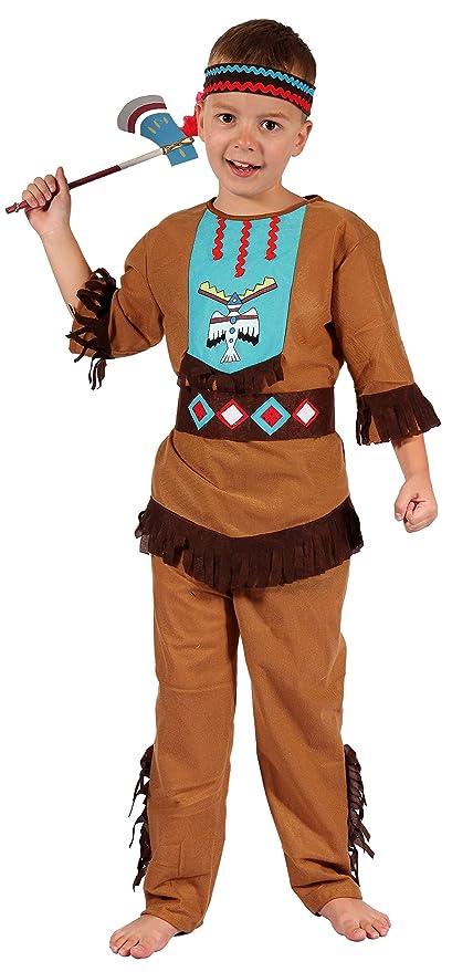 Kinder Kostum Set Indianer Weste Kopfschmuck Fasching