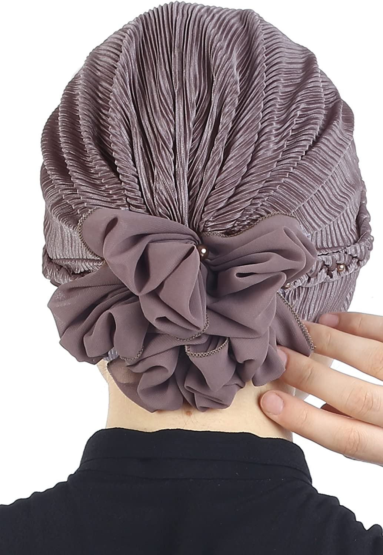 Deresina Geflochtener /& Perlenbesetzter Hut Turban f/ür Haarverlust Chemo Cancer