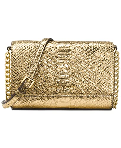 a421304ce7 MICHAEL Michael Kors Ruby Medium Leather Crossbody Bag (Natural)  Handbags   Amazon.com