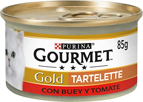Purina Gourmet Gold Tartalette comida para gatos con Buey y Tomate 24 x 85 g: Amazon.es: Productos para mascotas
