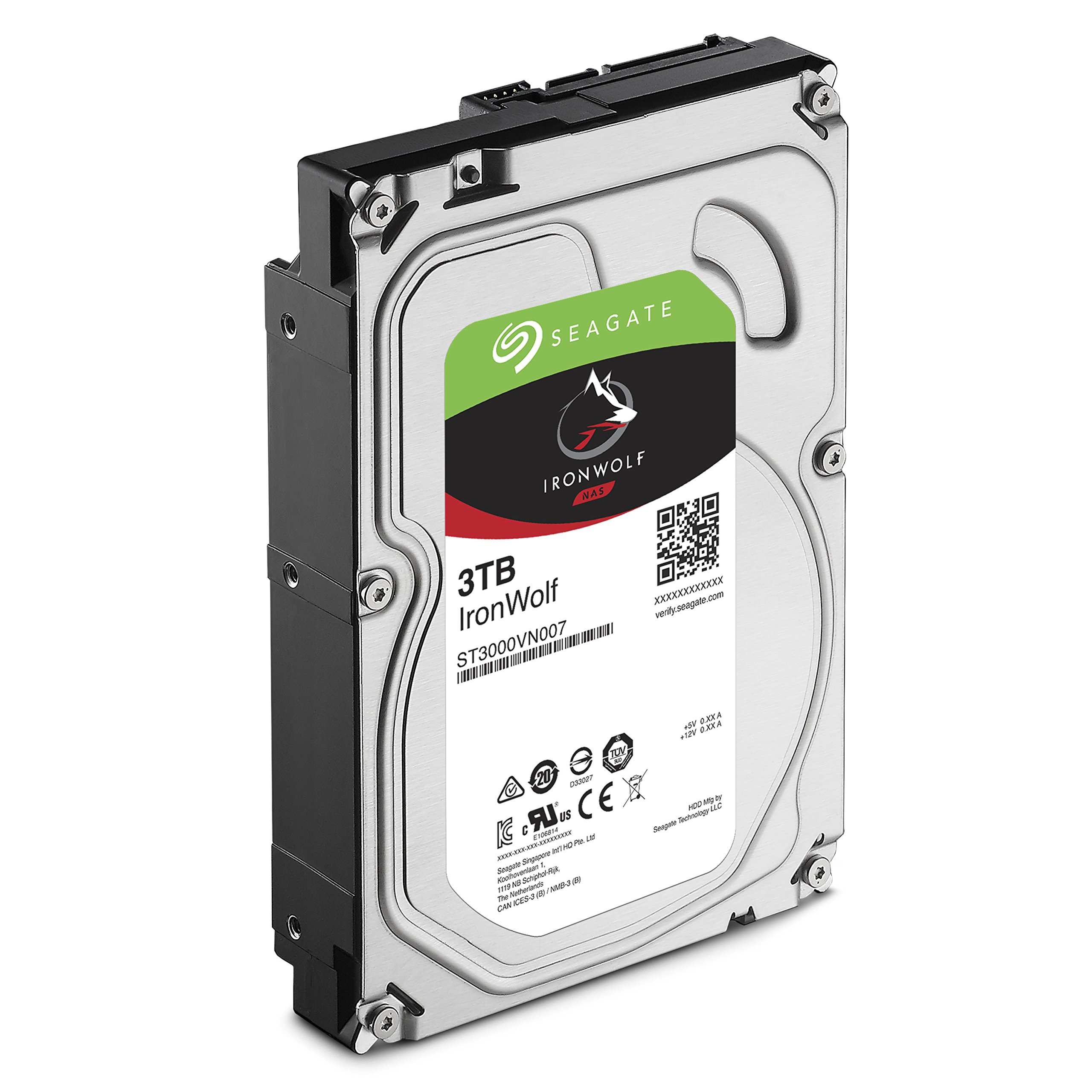 Seagate IronWolf 3 TB NAS RAID Internal Hard Drive - 5,900 RPM SATA 6 Gb/s 3.5-inch - Frustration Free Packaging (ST3000VN007) by Seagate (Image #3)