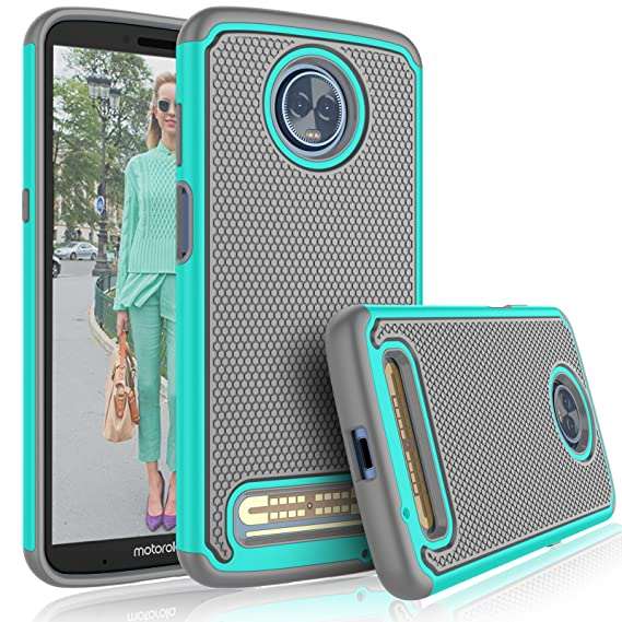 new concept 2a699 ac244 Moto Z3 Case, Motorola Moto Z3 Play Cute Case, Tekcoo [Tmajor] Shock  Absorbing [Turquoise] Rubber Silicone & Plastic Scratch Resistant Bumper  Sturdy ...