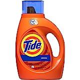Tide HE Turbo Clean Liquid Laundry Detergent, Original Scent, 1.47L