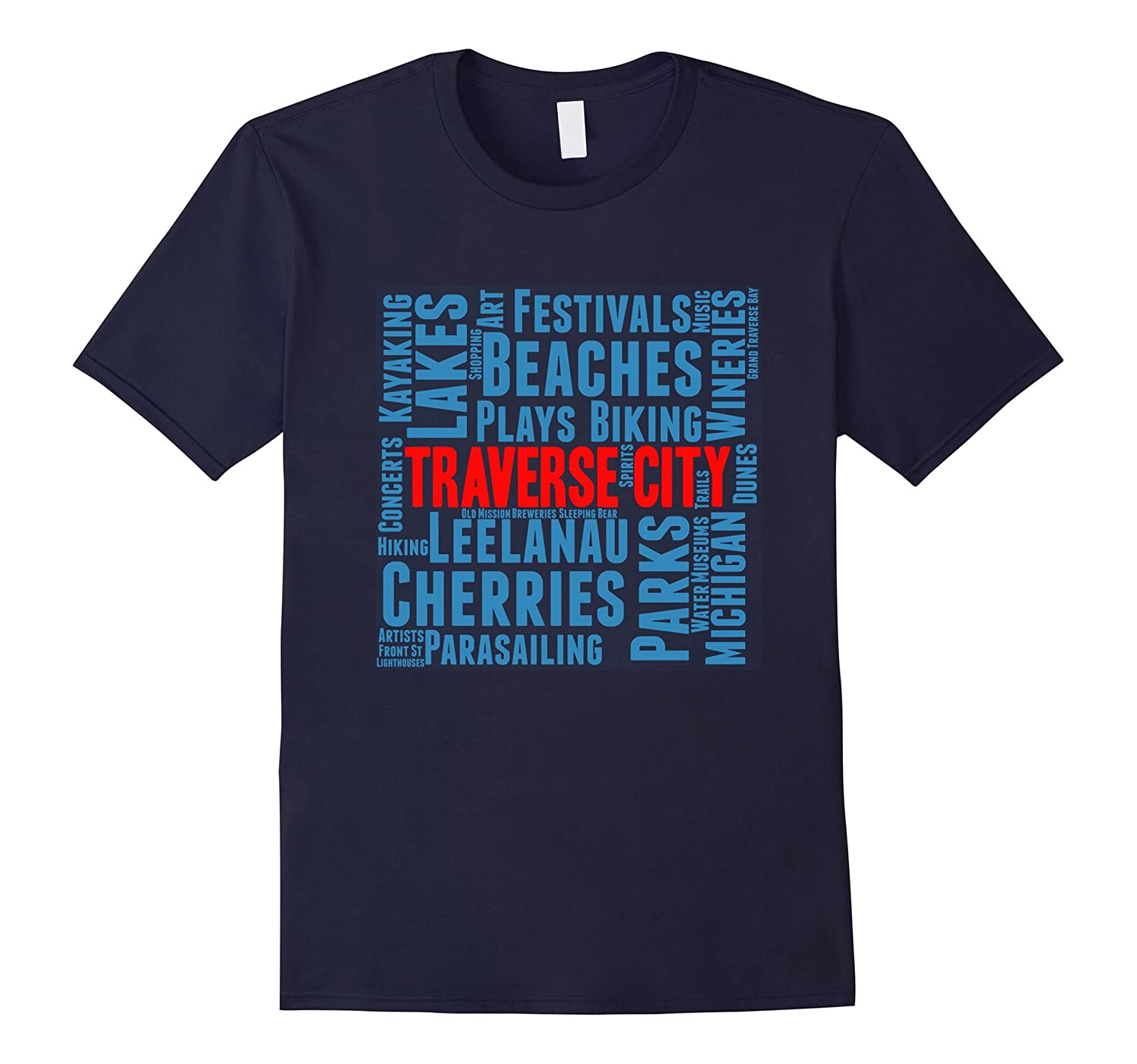 Traverse City Michigan T-Shirt Shirt Tee-PL