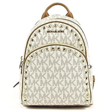 0f0d73be5d5fd ... norway michael michael kors abbey medium frame out signature studded  backpack vanilla acorn f51b5 b59df