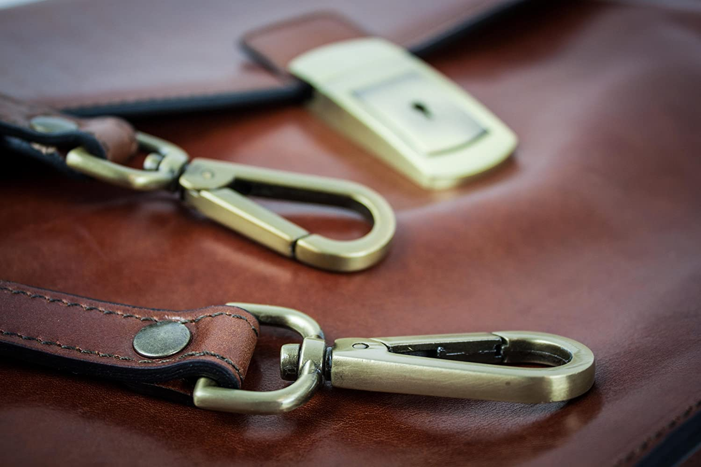 Leather Briefcase Time Resistance Messenger Bag Leather Laptop Bag