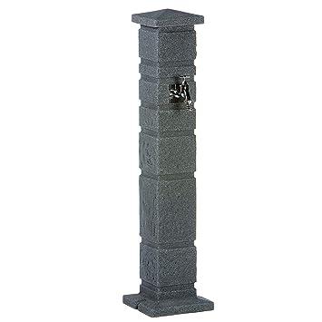 Wasserzapfstelle Anthrazit Wasserentnahmestelle Romana Black Granit