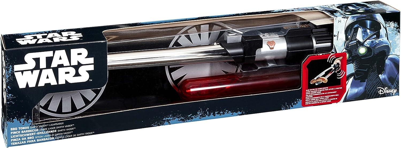 Star Wars Espada láser Pinzas para Barbacoa, Color Negro