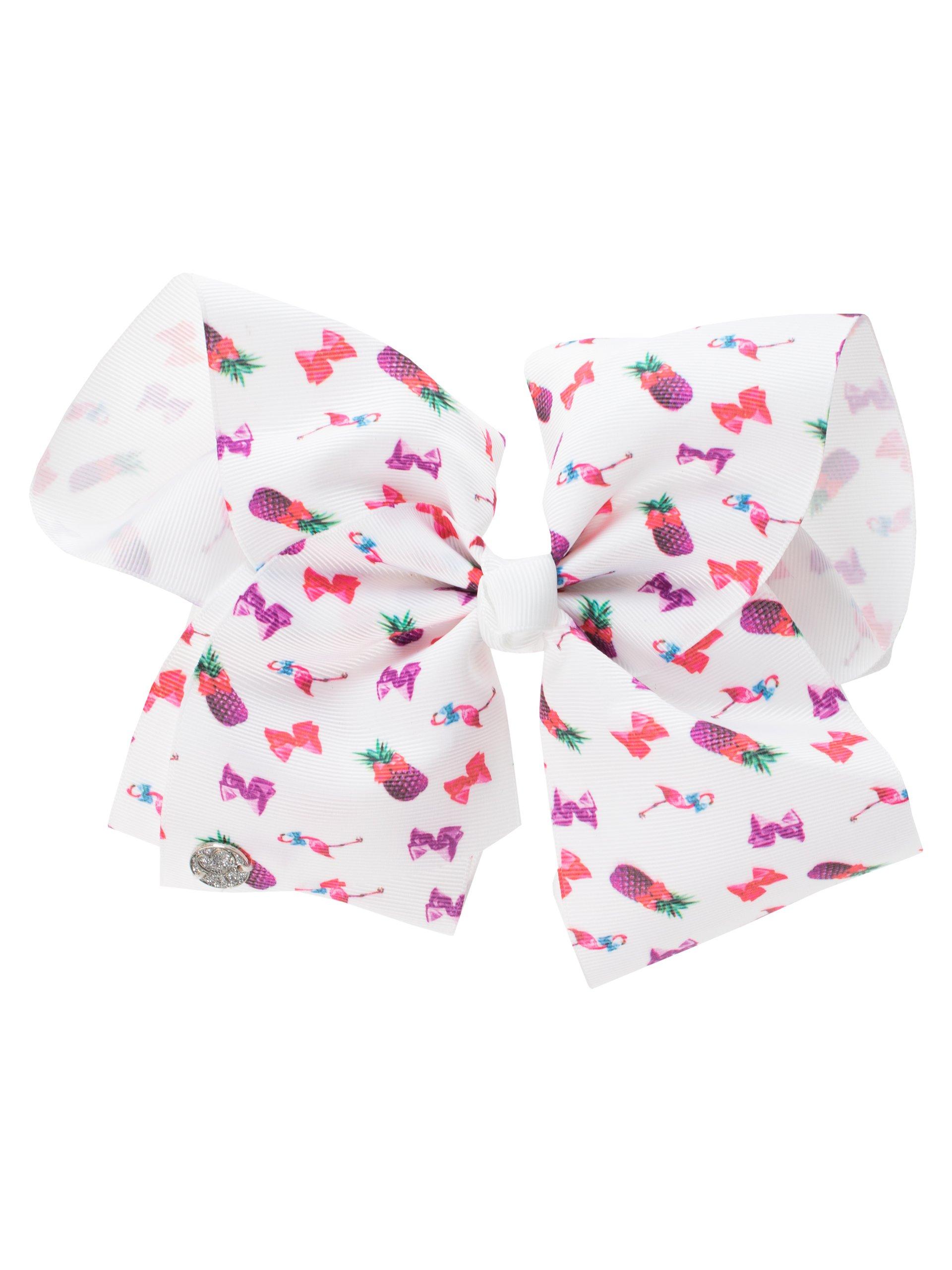 JoJo Siwa Girls Jojo Bow and Necklace Set White