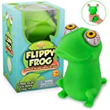 Squishy Eye Popping Flippy Frog - Large Squeeze - Stress Relief Toy - Latex Free Peepers Fidget - Anxiety Reducer…