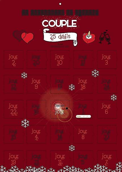 Image Calendrier De L Avent.Calendrier De L Avent Special Couple 25 Defis Petites Attentions Cadeau Amoureux
