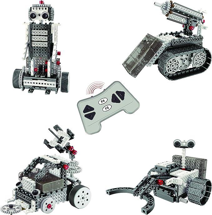 Think Gizmos Kit de Construcción de Vehículos Lunares Ingenious Machines – Juego de Montaje de Robóti-ca para Niños – Juguete RC con 4 Modelos – 2 Exploradores 1 Vehículo 1 Robot para