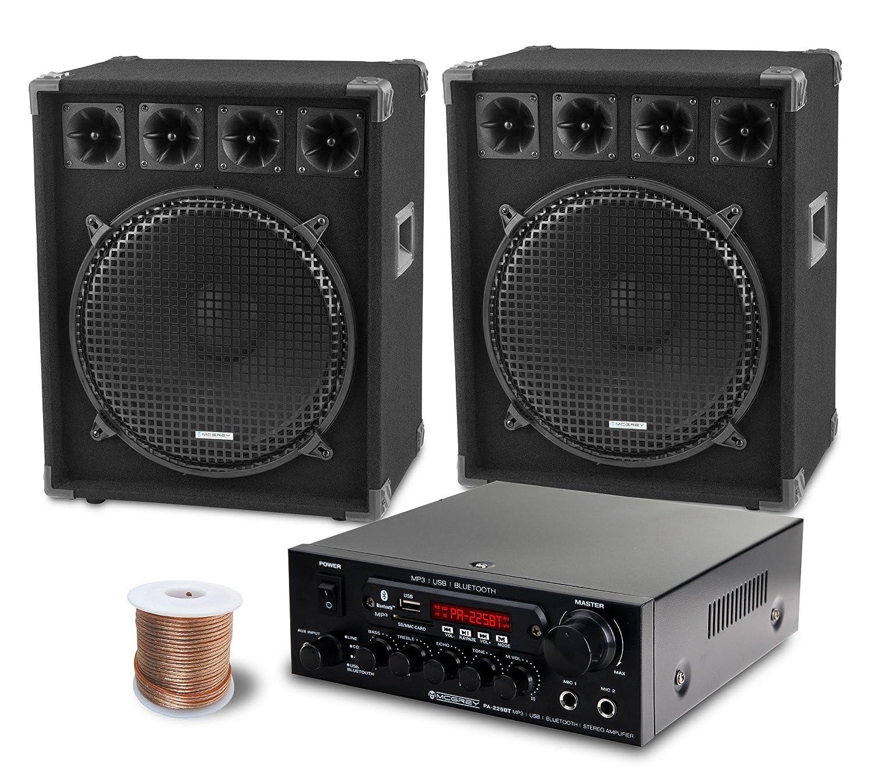 McGrey PA Komplettset DJ Anlage PowerDJ-2500 (System mit Partyboxen ...
