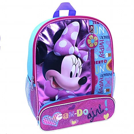 1433cdd22dd Image Unavailable. Image not available for. Color  Global Design Concepts  Disney Bowtique Minnie Mouse 14 inch Backpack with Side Mesh Pockets