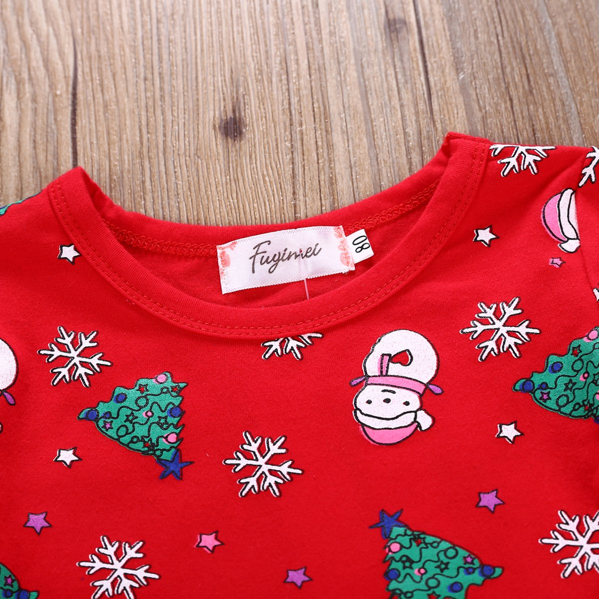 GRNSHTS Baby Girls Christmas Dresses Clothes Floral Deer Sleeveless Outfits