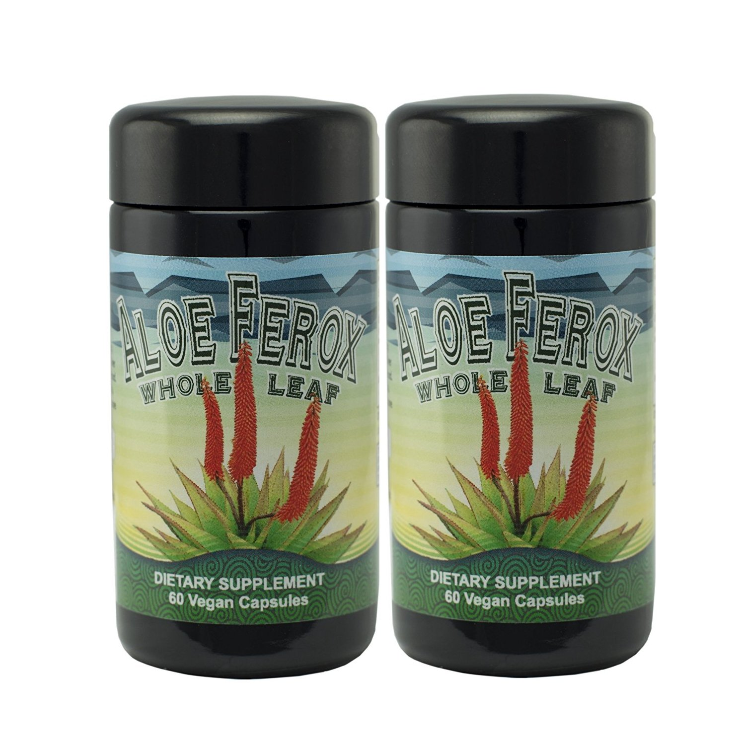 Aloe Ferox Whole Leaf Capsules - 2 Pack by Immunologic Health Systems