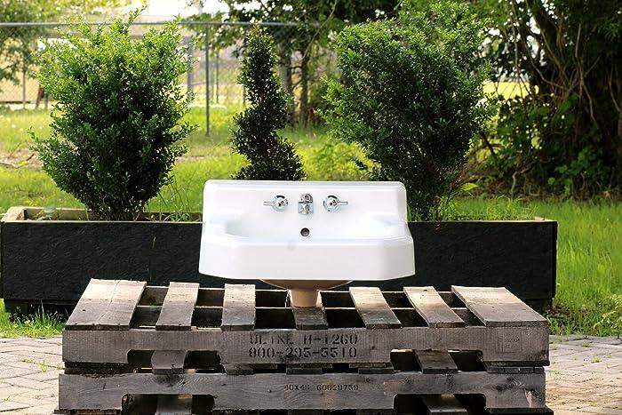Amazon.com: Vintage 1948 Refinished Wall Bath Sink Shelf Back Cast ...