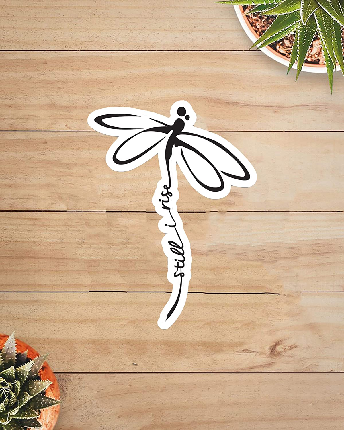 Stickers for Window and Wall Decor, Still I Rise Dragonfly Sticker, 6 Inch, 15 PCS